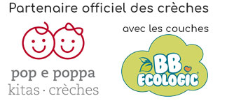 Partenaire officiel des crèches pop e poppa avec les couches BB Ecologic