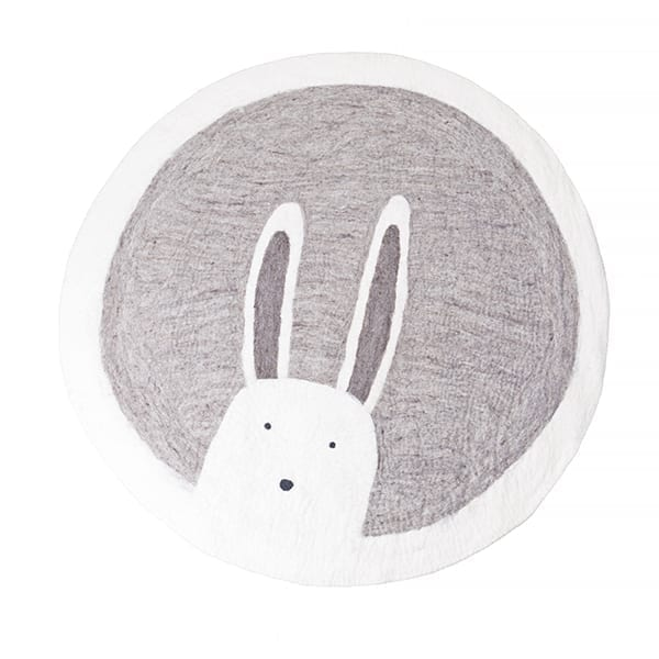 muskhane tapis rond 120cm pasu bunny couleur pierre babygreen. Black Bedroom Furniture Sets. Home Design Ideas