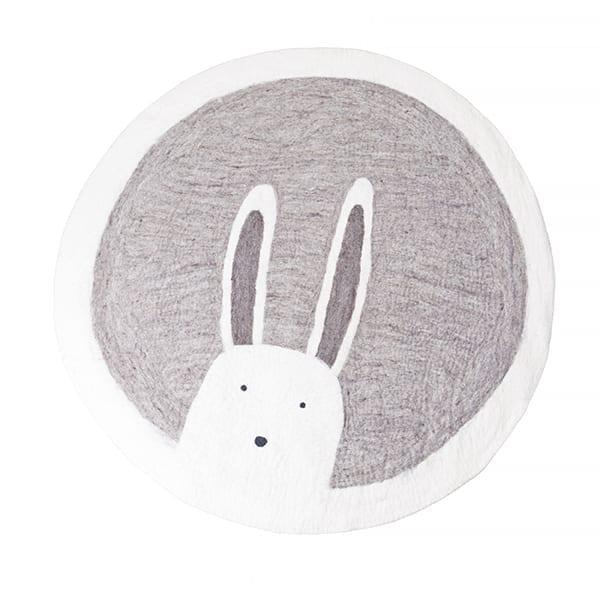muskhane tapis rond 120cm pasu bunny couleur pierre babygreen. Black Bedroom Furniture Sets. Home Design Ideas